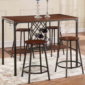 Bayer 5-Piece Pub Table Set