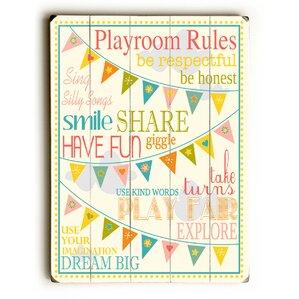 Playroom Rules Wall Decor