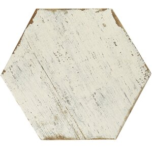 "Igasho 14.13"" x 16.25"" Porcelain Field Tile in White"