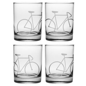 Bicycle Rocks Glass (Set of 4)