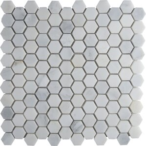 "Marble Hexagon 1"" x 1"" Mosaic Tile"