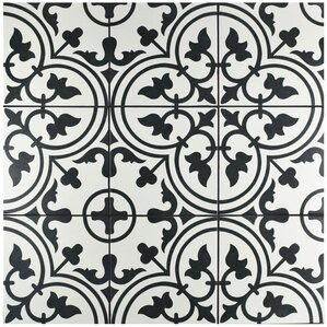 "Arya 9.75"" x 9.75"" Porcelain Field Tile in White"