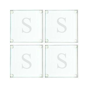 Lila Personalized Glass Coaster (Set of 4)