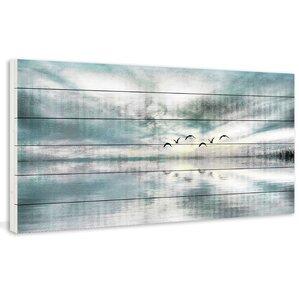 Birds Skylight Painting Print