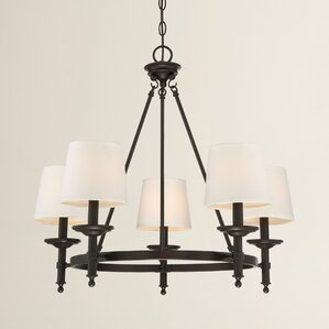 Haysville 5-Light Shaded Chandelier