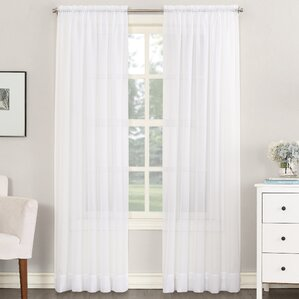 Robert Sheer Voile Rod Pocket Single Curtain Panel