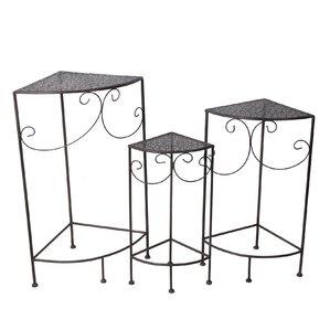 3-Piece Corner Plant Stand Set
