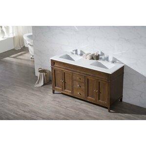 """Bethany 59"""" Double Sink Bathroom Vanity Set"""