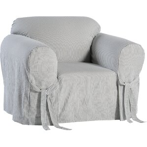 Stripe Twill Armchair Slipcover  by Classic Slipcovers