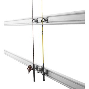 Wall-Mount Fishing Pole Holder