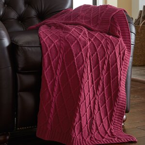 Angela Cable Knit Throw