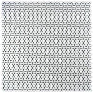 """Pelham .75"""" x .75"""" Porcelain Mosaic Tile in Glossy White"""