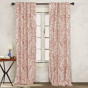 Anya Paisley Window Curtain Panels (Set of 2)