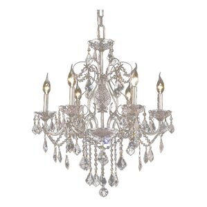 Keston 6-Light Crystal Chandelier