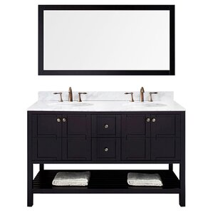 "Florentina 60"" Double Bathroom Vanity & Mirror Set"