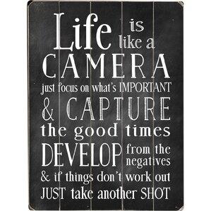 Life is Like a Camera Wall Decor