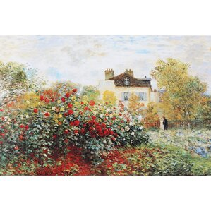 'Garden' by Claude Monet Graphic Art on Wrapped Canvas