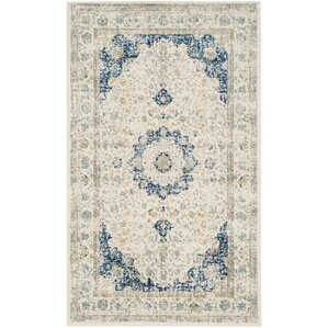 Nellie Ivory & Cream Area Rug