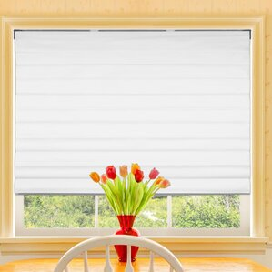 Rockmill Blackout Cordless Fabric Roman Shade