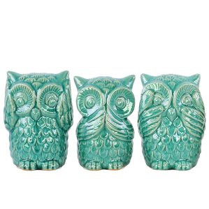 3-Piece Owl Decor Set