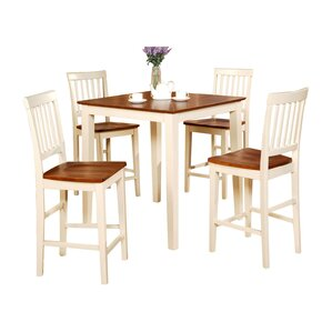 Ginny 5-Piece Counter Height Dining Set