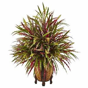 Autumn Foliage Grass in Decorative Vase