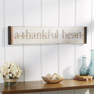A Thankful Heart Wall Decor
