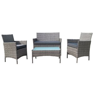 Lamoreaux 4-Piece Deep Seating Group