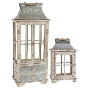 2-Piece Bridgette Candle Lantern Set