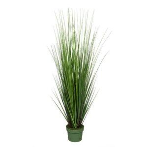 Faux Grass in Pot