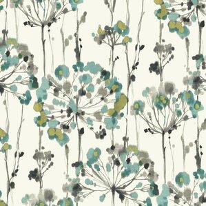 "Morrison 27' x 27"" Floral Medium/Large Roll Wallpaper"