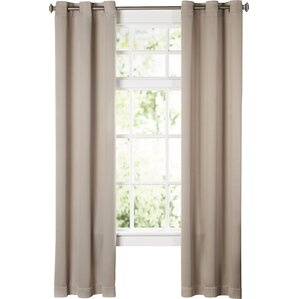 Sanders Solid Blackout Grommet Single Curtain Panel