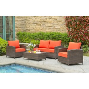 4-Piece Lalani Wicker Seating Group