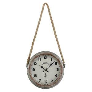 "9.3"" Salvaged Metal Wall Clock"