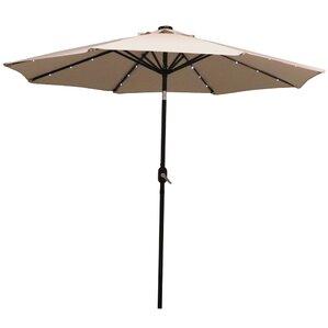 9' Aluminum Solar Illuminated Umbrella