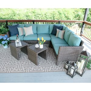 Williamsport 6-Piece Wicker Sectional Deep Seating Group