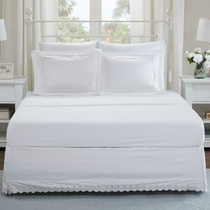 Ardley Eyelet Embroidered Shams and Bed Skirt Set