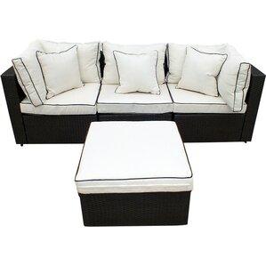 4-Piece Hannah Wicker Patio Seating Group