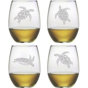 Turtle Stemless Wine Glass