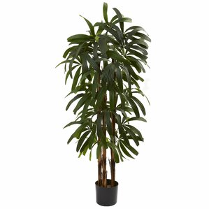 Faux Raphis Palm Tree in Pot