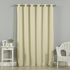Jasper Solid Extra Wide Thermal Blackout Grommet Single Curtain Panel