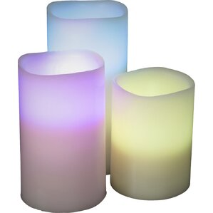 3-Piece Vanilla Scented Flameless Candle Set