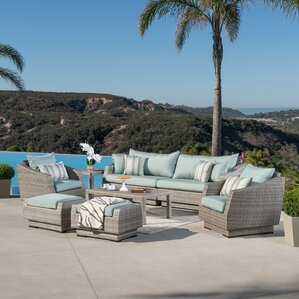 Alfredo 8 Piece Deep Seating Group With Cushions