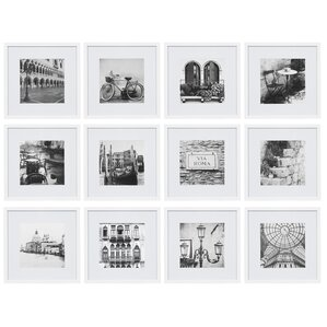 12 Piece Matted Picture Frame Set