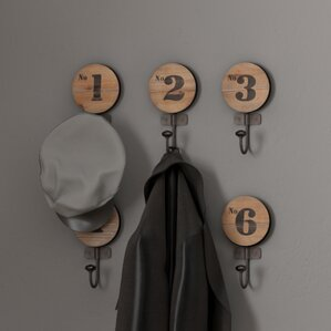 Number Wall Hook (Set of 6)