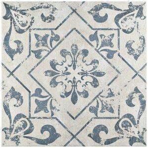 """Alana 17.75"""" x 17.75"""" Ceramic Field Tile in Blue"""