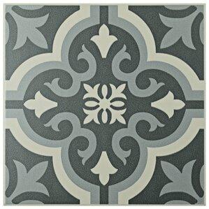 "Tamara 7.75"" x 7.75"" Field Tile in Black"