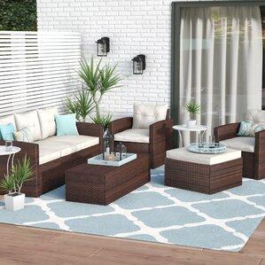 5-Piece Rita Ottoman Patio Seating Group