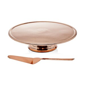 Elizabeth 2-Piece Cake Stand & Server Set