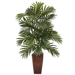 Faux Areca Palm Tree Floor Plant in Decorative Planter